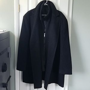 Wool blend car coat
